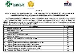 Processo seletivo p�blico do Hospital de Cl�nicas de Porto Alegre para resid�ncias m�dicas/2016