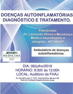 Doen�as Autoinflamat�rias Diagn�stico e Tratamento